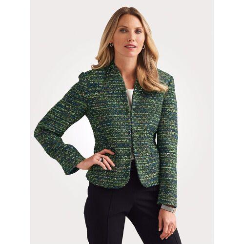 Mona Blazer mit Effektgarn und Pailletten, Grün