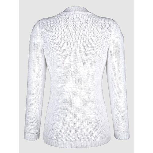 Dress In Pullover aus Bändchengarn, Weiß