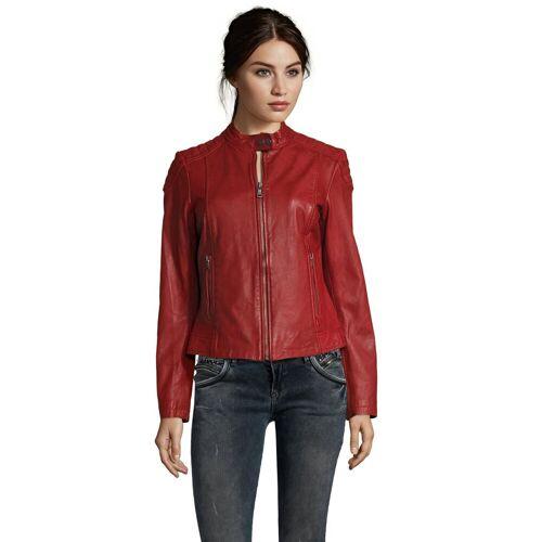 7eleven Lederjacke »Raffi« in coolem Design, rot