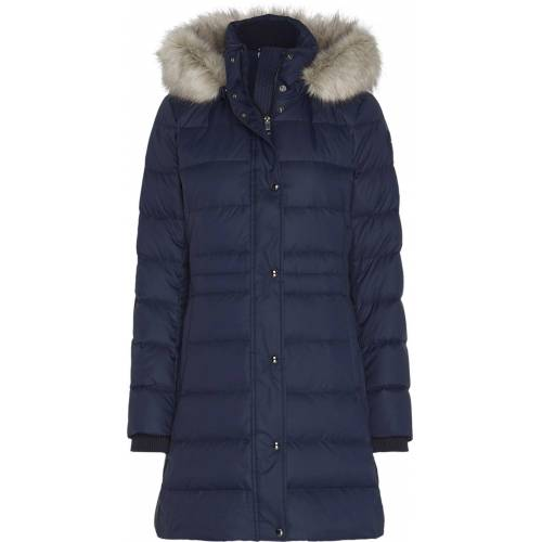 Tommy Hilfiger Steppmantel »TH ESS TYRA DOWN COAT WITH FUR«, DESERT SKY
