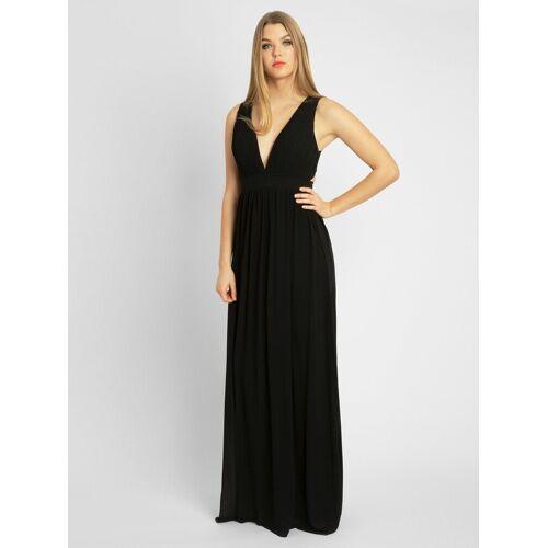 Apart Abendkleid aus Chiffon, schwarz