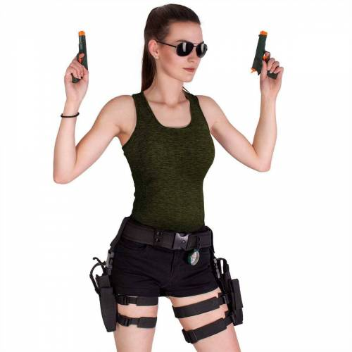 Black Snake Kostüm »Lara Croft«, Damen Faschingskostüm