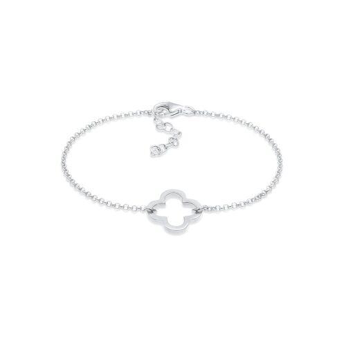 Elli Armband »Kleeblatt Glück Talismann 925 Silber«, Kleeblatt, Silber