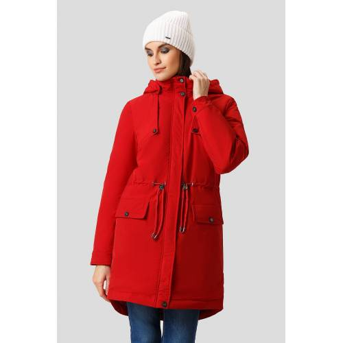 Finn Flare Kurzmantel mit modischem Taillenzug, rot