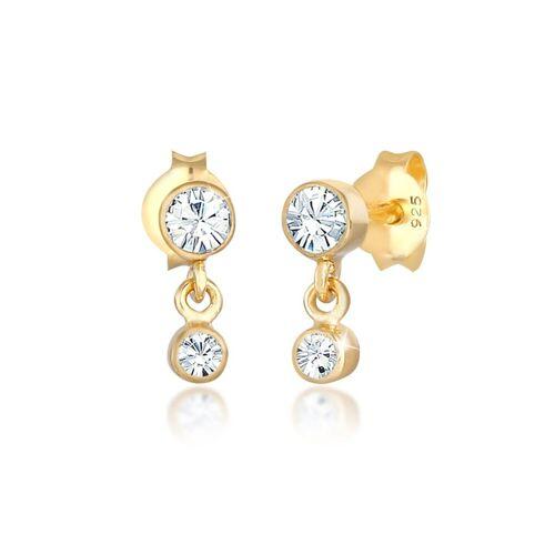 Elli Ohrhänger-Set »Ohrhänger Swarovski® Kristalle 925 Silber«, Kristall Ohrhänger, Gold