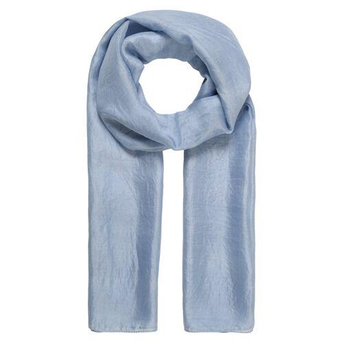 er piu Schal aus feiner Seide, jeans blau