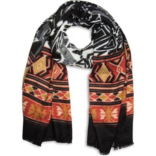 styleBREAKER Schal »Breiter Schal mit Azteken Ethno Muster« Breiter Schal mit Azteken Ethno Muster, Schwarz-Rot-Gelb-Beige-Weiß
