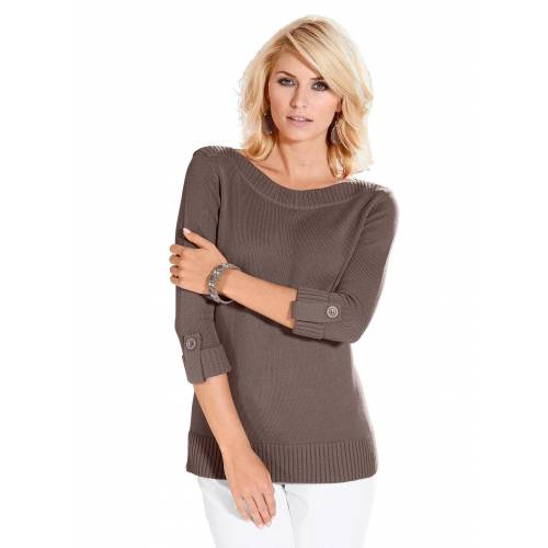 Casual Looks 3/4 Arm-Pullover, taupe-meliert