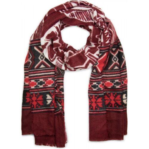 styleBREAKER Schal »Breiter Schal mit Azteken Ethno Muster« Breiter Schal mit Azteken Ethno Muster, Bordeaux-Rot-Creme-Schwarz-Weiß