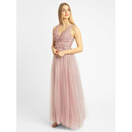 Apart Abendkleid aus Tüll und Spitze, rosé