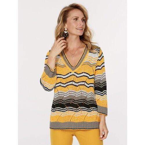 Mona Pullover aus Bändchengarn, Gelb