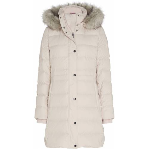 Tommy Hilfiger Steppmantel »TH ESS TYRA DOWN COAT WITH FUR«, Vintage White