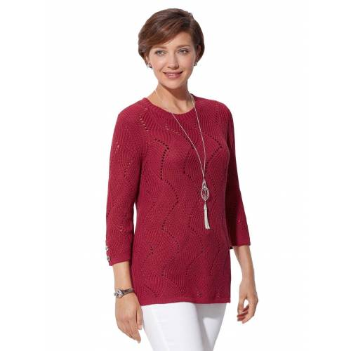 Casual Looks 3/4 Arm-Pullover, rot