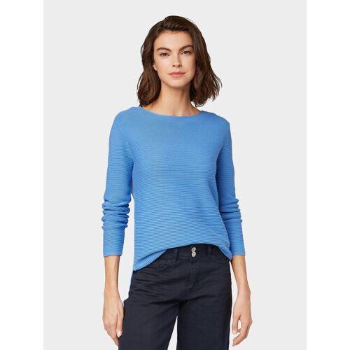 TOM TAILOR Strickpullover »Pullover mit Strickmuster«, blau