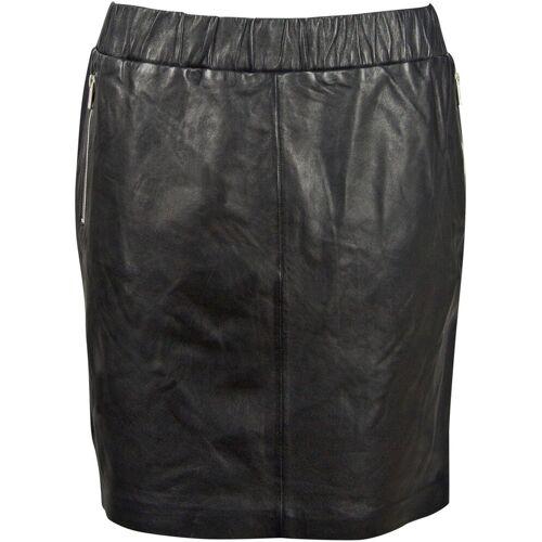 Gipsy Lederrock mit Zippertaschen & Stretchbund