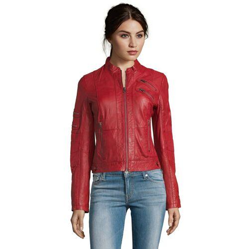 7eleven Lederjacke »Lilo« in modischem Look, rot