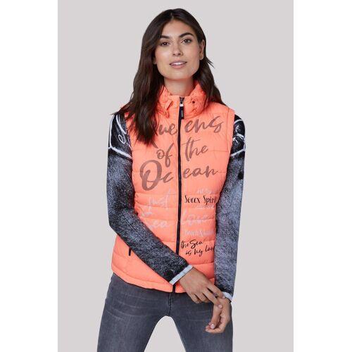 SOCCX Steppweste mit Innentasche, orange