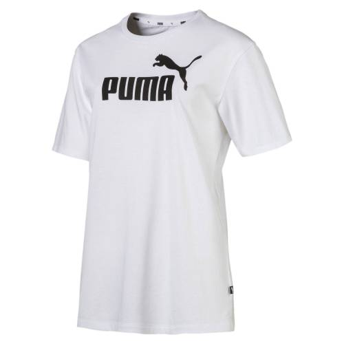 Puma T-Shirt »Damen Boyfriend Logo T-Shirt«, weiß