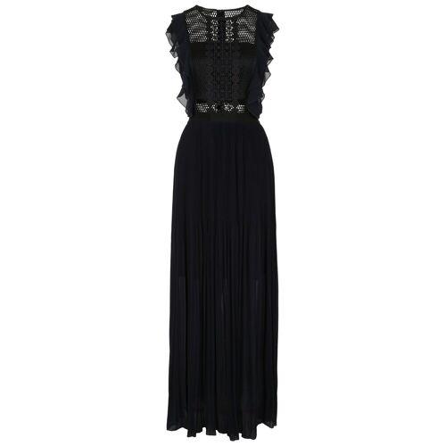 Apart Abendkleid mit Mesh-Top, nachtblau-schwarz