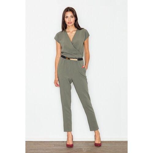 FIGL Jumpsuit in elegantem Design, Olive Green