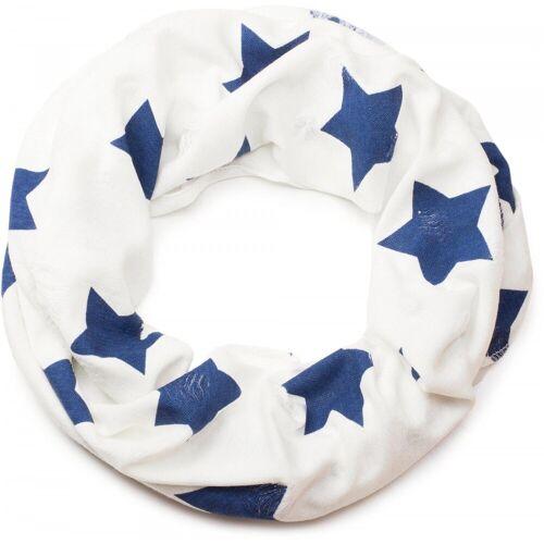 styleBREAKER Loop »Loop Schal mit Sterne und Punkte Muster« Loop Schal mit Sterne und Punkte Muster, Weiß