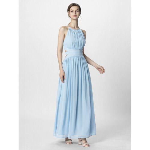 Apart Abendkleid aus zartem Chiffon, hellblau