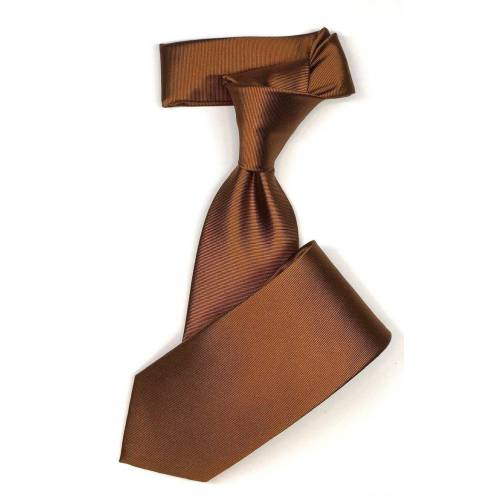 Seidenfalter Krawatte »7cm Uni Krawatte« Krawatte im edlen Uni Design, Cognac