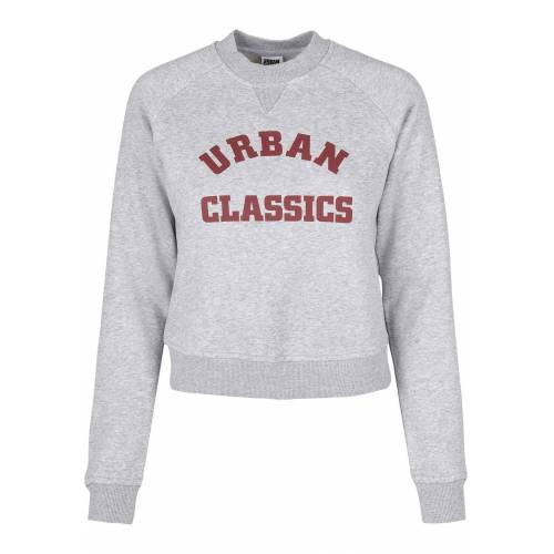 URBAN CLASSICS Hoodie »Damen Ladies Short College Crew Sweatshirt - TB3780 -«