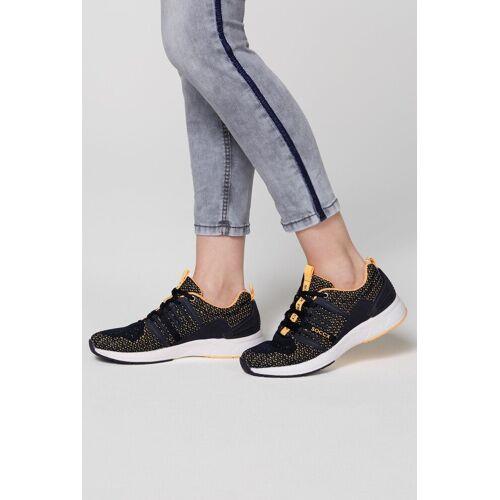 SOCCX Sneaker mit Label-Print, blau