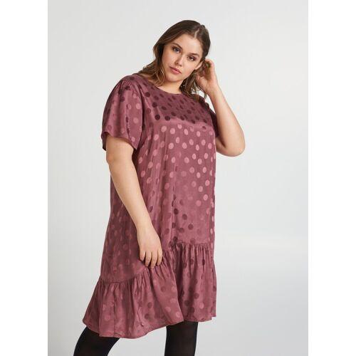 Zizzi Abendkleid Große Größen Damen Kurzärmeliges Kleid mit Tupfen