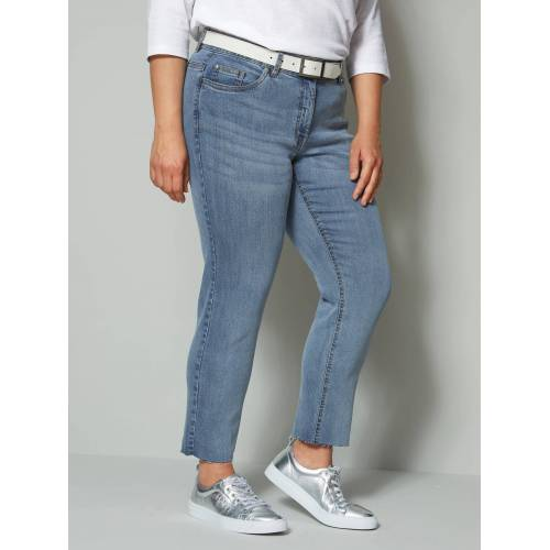 Angel of Style by Happy Size 7/8-Jeans mit offenem Saum