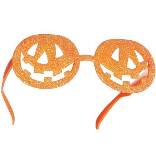 tectake Kostüm »Halloween Spaßbrille glitzernde Kürbisse«