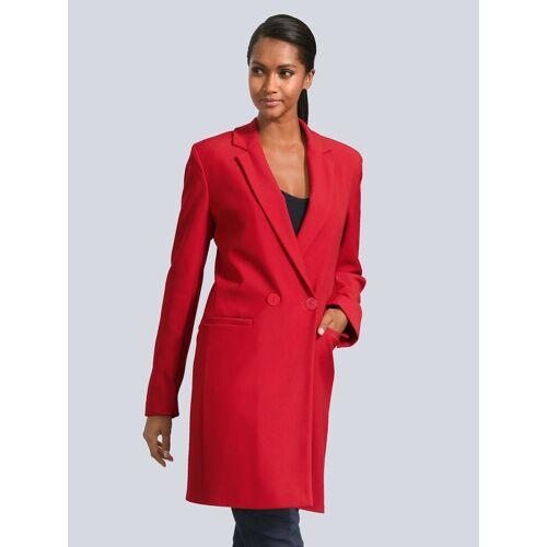 Alba Moda Mantel in eleganter Blazerform, Rot