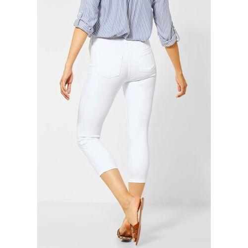 STREET ONE Slim-fit-Jeans »York« in 7/8-Länge aus colored Denim, weiß