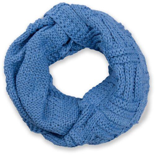 styleBREAKER Strickschal »Strick Loop mit Gitter und Rippenmuster« Strick Loop mit Gitter und Rippenmuster, Blau