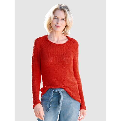 Dress In Pullover mit Bändchengarn, Rot