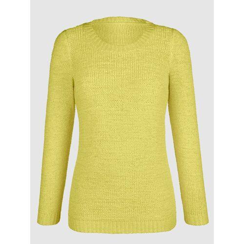 Dress In Pullover aus Bändchengarn, Gelb