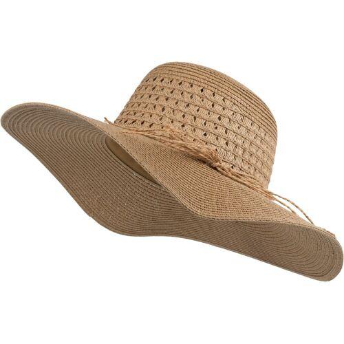 styleBREAKER Sonnenhut »Großer Sonnenhut mit Hutband und Schleife Strohhut« Großer Sonnenhut mit Hutband und Schleife Strohhut, Braun