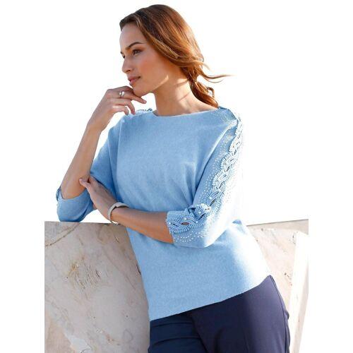 Lady 3/4 Arm-Pullover, hellblau