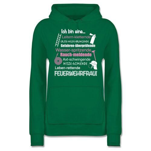 Shirtracer Hoodie »Ich bin eine ... Feuerwehrfrau! - Damen Premium Kapuzenpullover - Pullover & Hoodies« Feuerwehr, 14 Grün