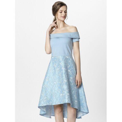 Apart Abendkleid mit Carmen-Ausschnitt, hellblau