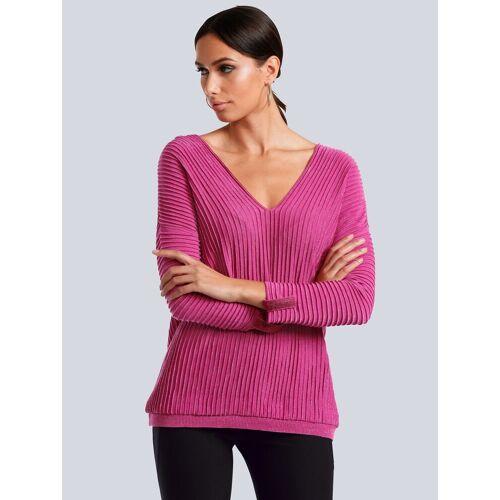 Alba Moda Pullover in besonderer Strickart, Pink