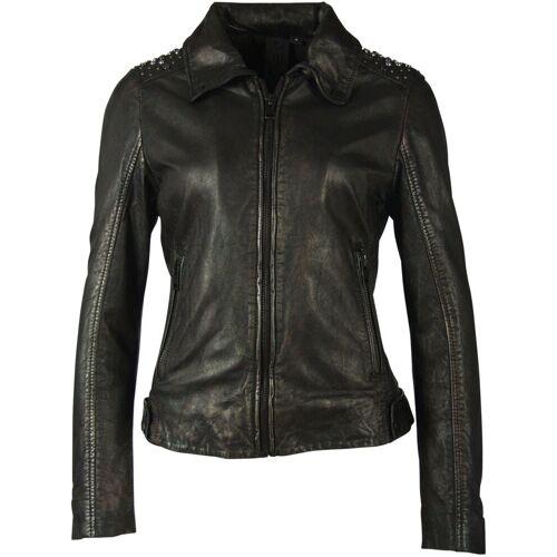 Gipsy Lederjacke »Lania« short Jacket mit Nieten im Metallic-Look