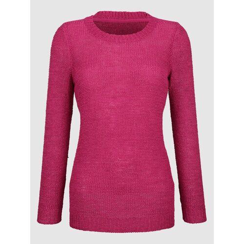 Dress In Pullover aus Bändchengarn, Pink