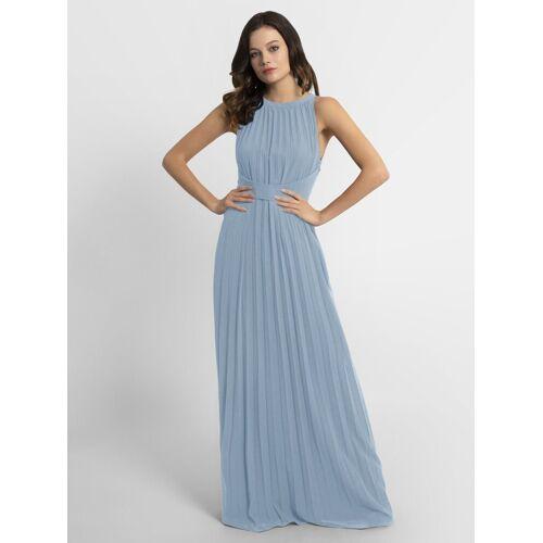 Apart Abendkleid aus plissiertem Chiffon, hellblau
