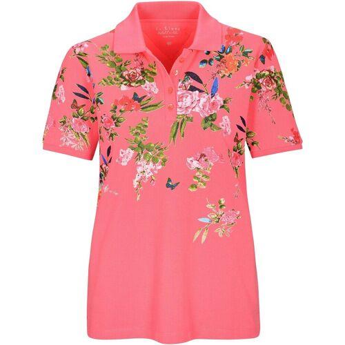 In Linea Firenze Poloshirt »Piqué-Poloshirt mit Blumen«, Himbeere   Himbeere   Himbeere   Himbeere