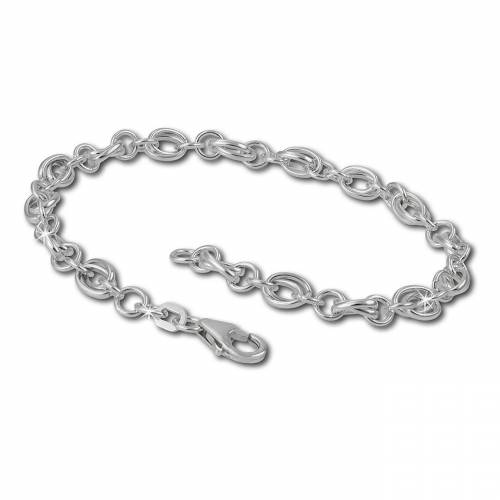 SilberDream Charm-Armband »FC0602 Charmsarmband für Silber Charms« (Charmsarmbänder), Charmsarmbänder ca. 19cm, 925 Sterling Silber, Farbe: silber, Made-In Germany