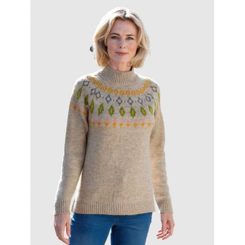 Dress In Norwegerpullover mit Norwegermuster, Natur