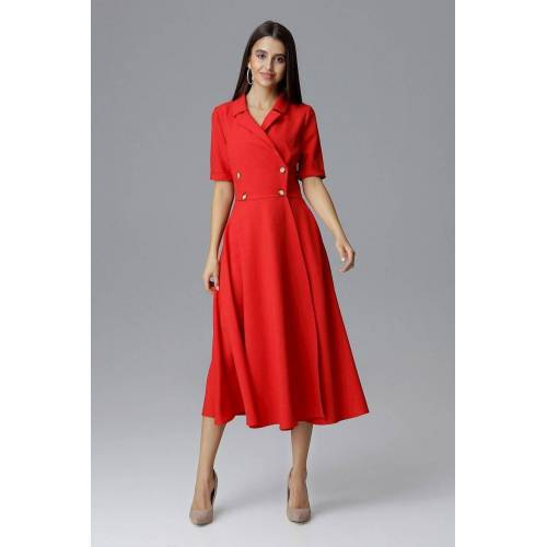 FIGL Abendkleid in Midi-Länge, Red