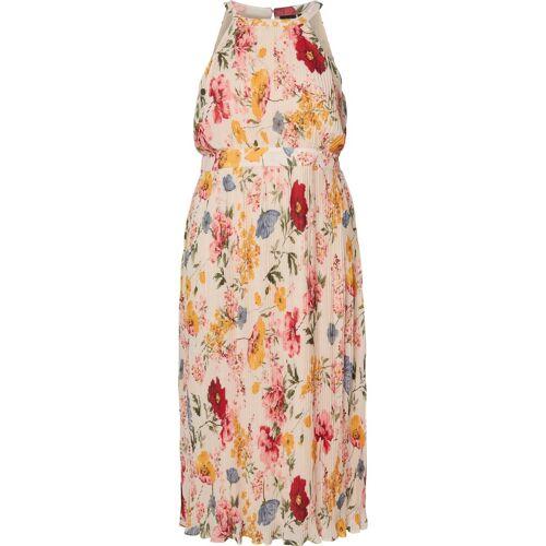 Zizzi Abendkleid Große Größen Damen Ärmelloses Maxi Kleid mit Plissee